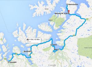 Burfjord - Talvik - Alta - Hammerfest
